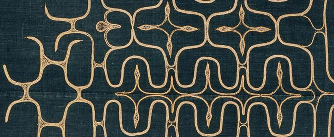 Fragment of an Ainu Textile, circa 1900 C.E. | Image courtesy of Robin Gray Design.