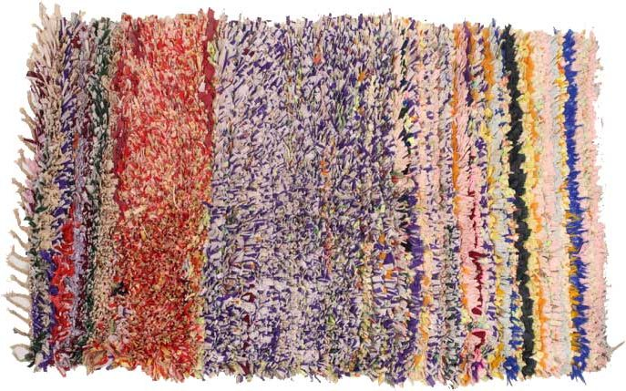 Boucherouite, Middle Atlas, Morocco, circa 2000, 163 x 97 cm. Rags and industrial fibres. Private collection, New York. | Image courtesy of Alberto Levi