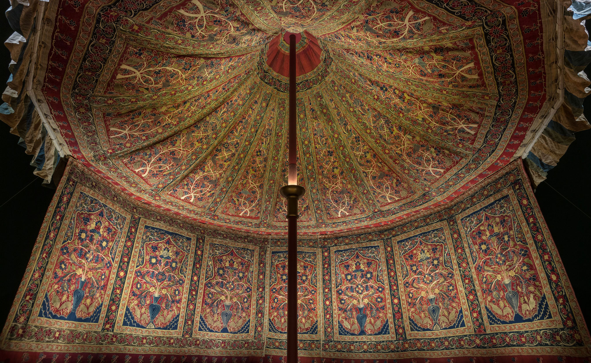 Muhammad Shah's Royal Persian Tent - Cleveland Museum of Art - Interior Canopy | Image courtesy of The Cleveland Museum of Art