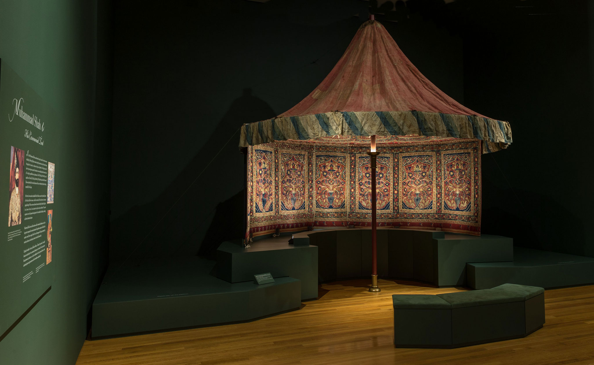 Muhammad Shah's Royal Persian Tent - Cleveland Museum of Art - Overview of Installation | Image courtesy of The Cleveland Museum of Art