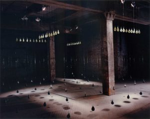 Amy Helfand, Semilla, 1993 - 18' x 24' x 12' - Plaster, acrylic resin, wire, graphite. | Image courtesy of Amy Helfand.