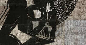 'Darth Vader' is an eponymously named limited edition rug by Hadi Maktabi. | Image courtesy of Hadi Maktabi.