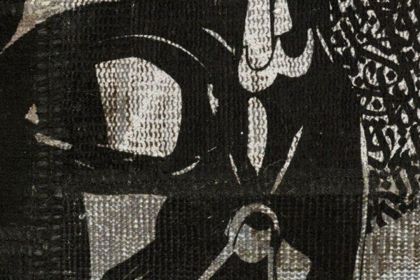 'Darth Vader' is an eponymously named limited edition rug by Hadi Maktabi.   Image courtesy of Hadi Maktabi.