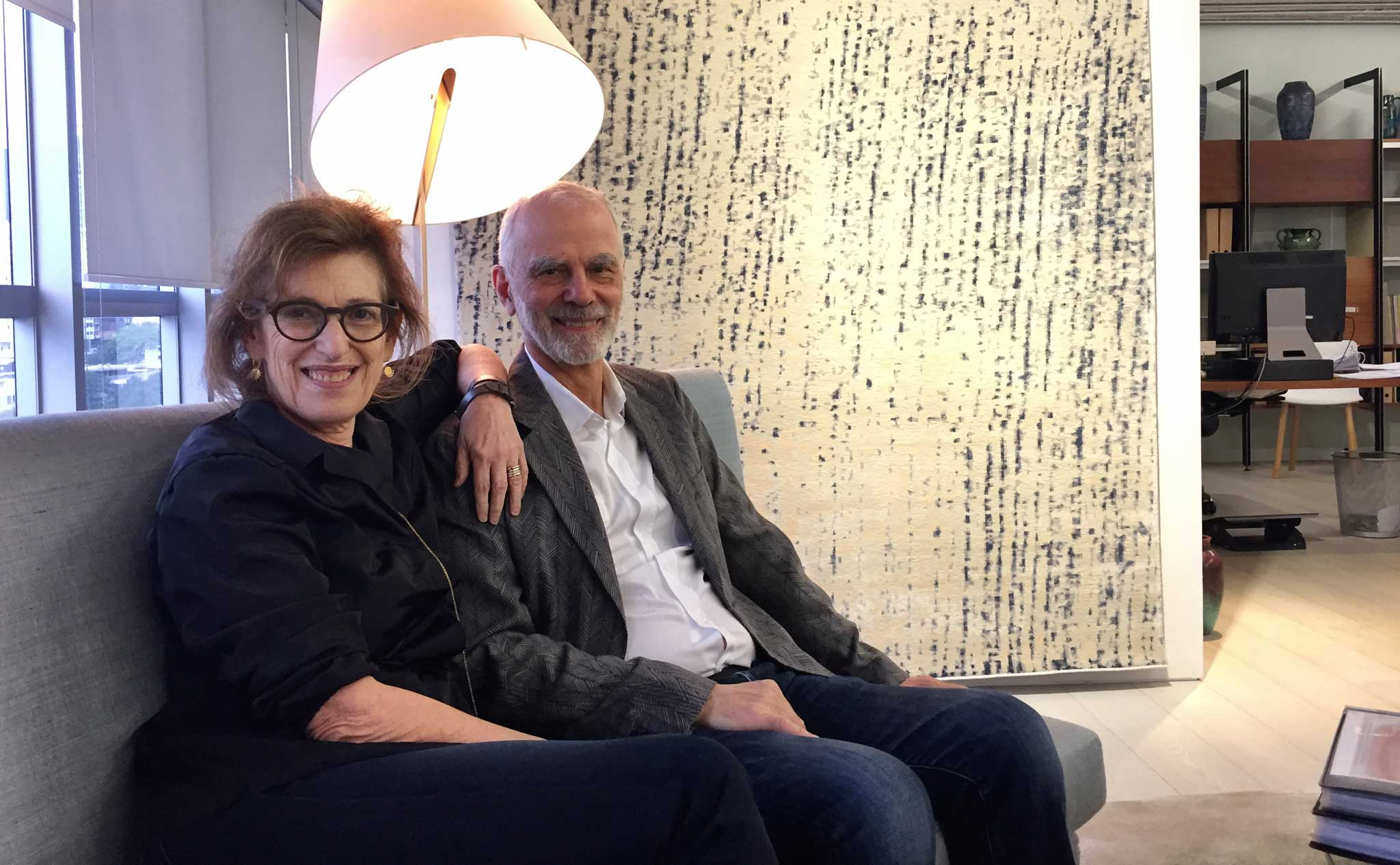 Janis Provisor and Brad Davis of Fort Street Studio in their firm's Hong Kong Showroom. | Image by The Ruggist.