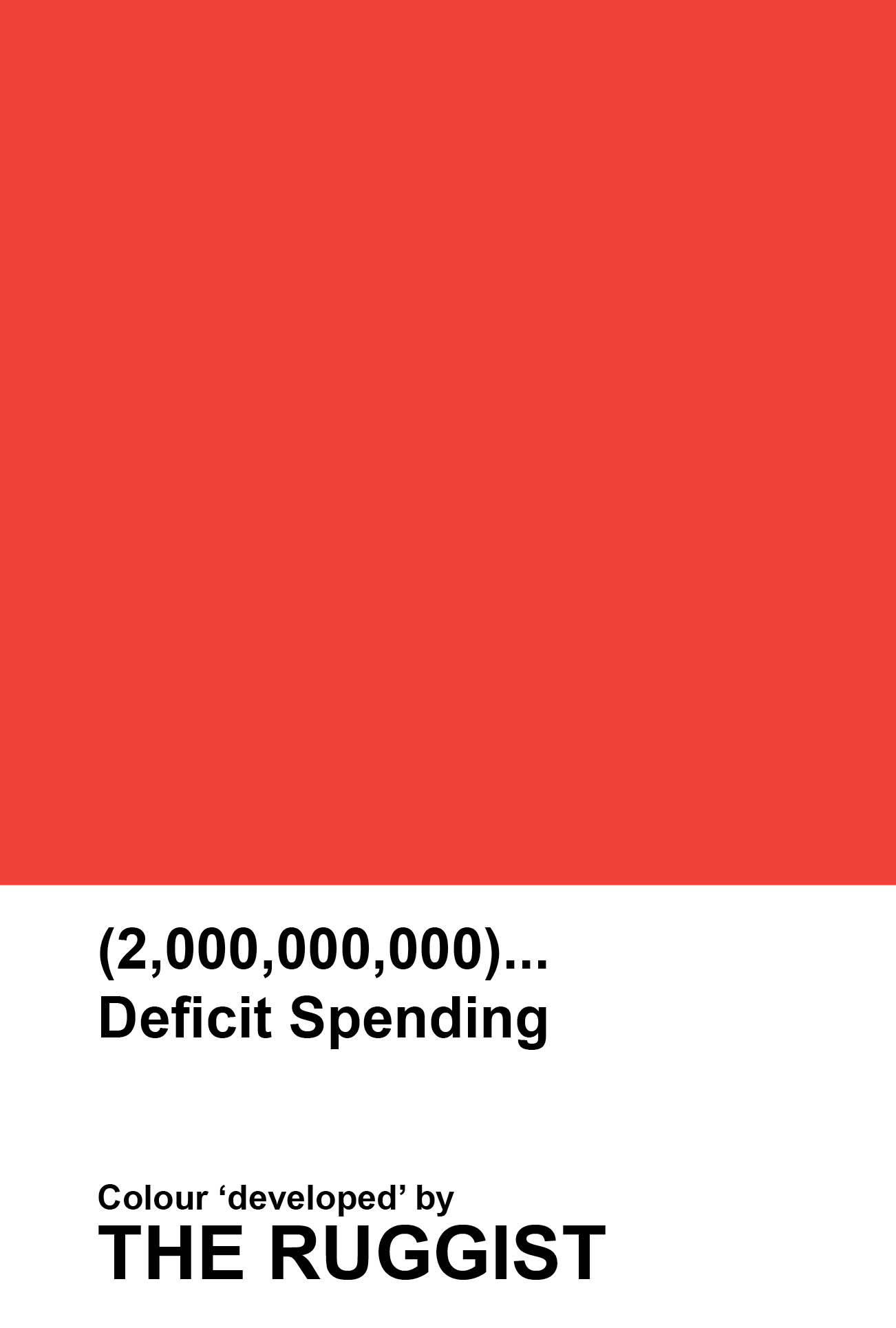 'Deficit Spending' colour reference as 'developed' by The Ruggist. | Image by The Ruggist.