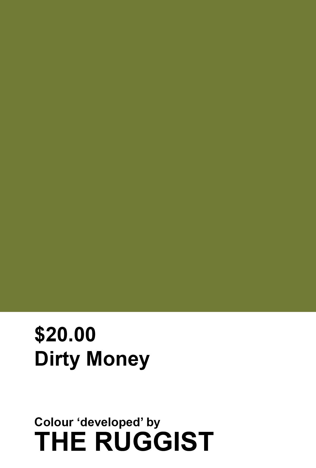 'Dirty Money' colour reference as 'developed' by The Ruggist. | Image by The Ruggist.