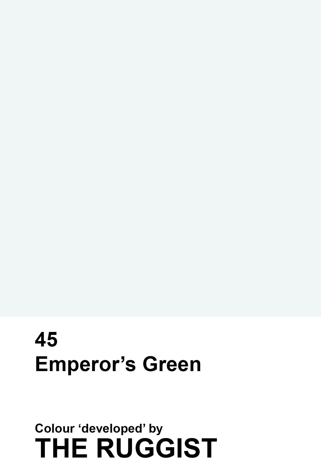 'Emperor's Green' colour reference as 'developed' by The Ruggist. | Image by The Ruggist.