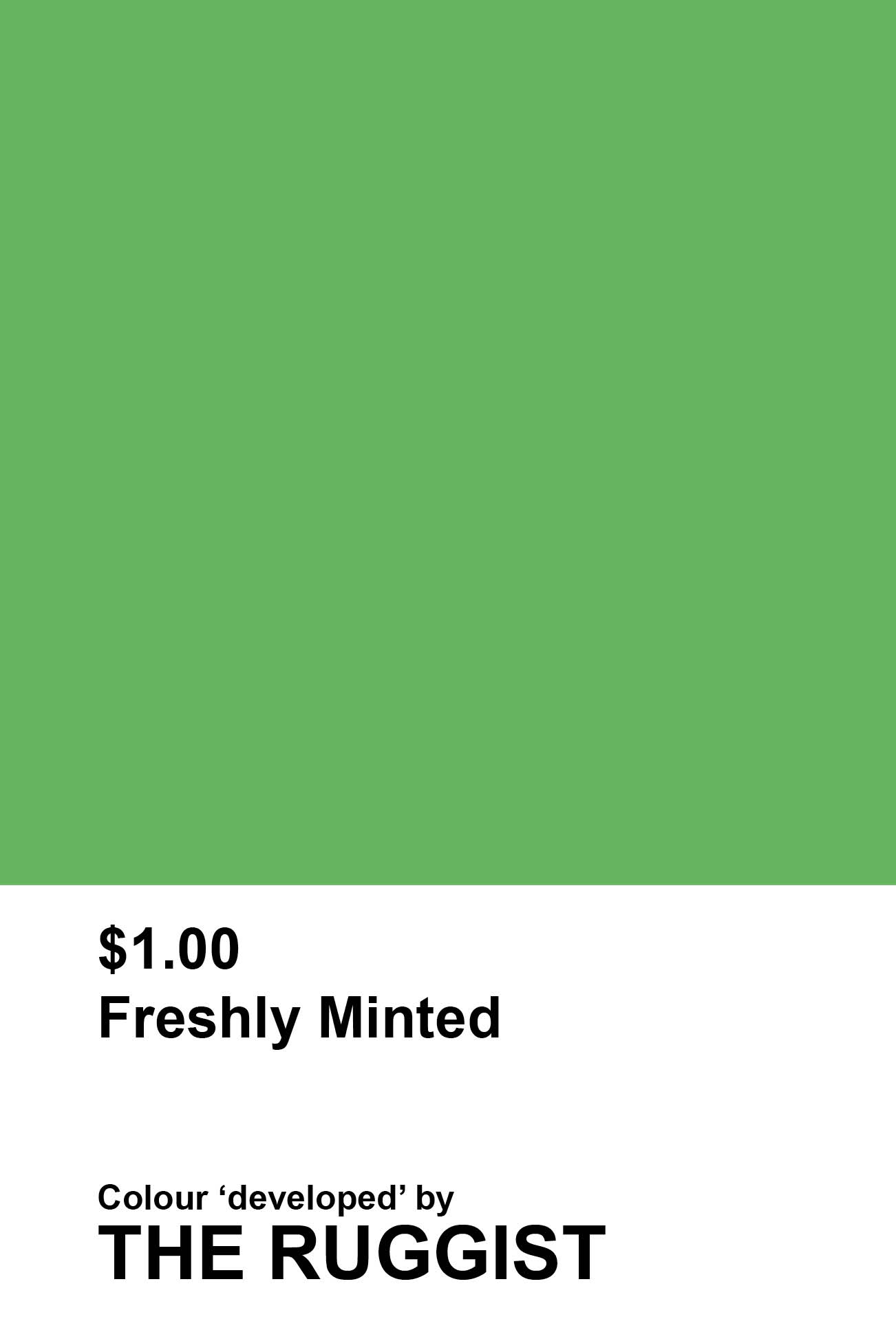 'Freshly Minted' colour reference as 'developed' by The Ruggist. | Image by The Ruggist.