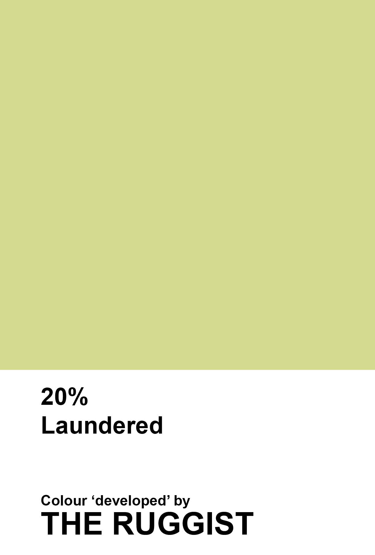 'Laundered' colour reference as 'developed' by The Ruggist. | Image by The Ruggist.