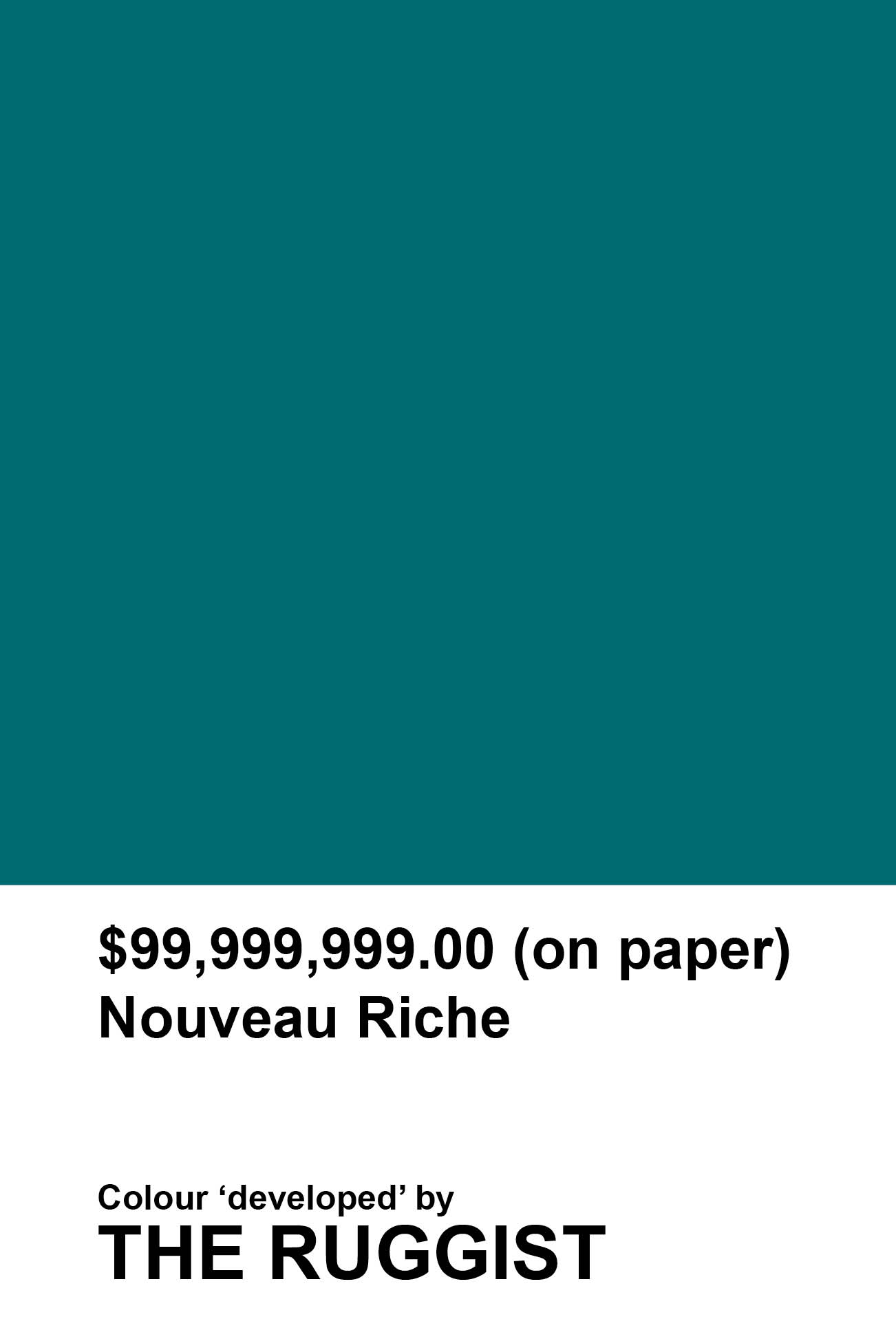 'Nouveau Riche' colour reference as 'developed' by The Ruggist. | Image by The Ruggist.