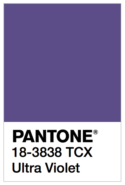 The Pantone Color Institute's 2018 Color of the Year: 'Ultra Violet'. | Image courtesy of Pantone under the Fair Use Doctrine.