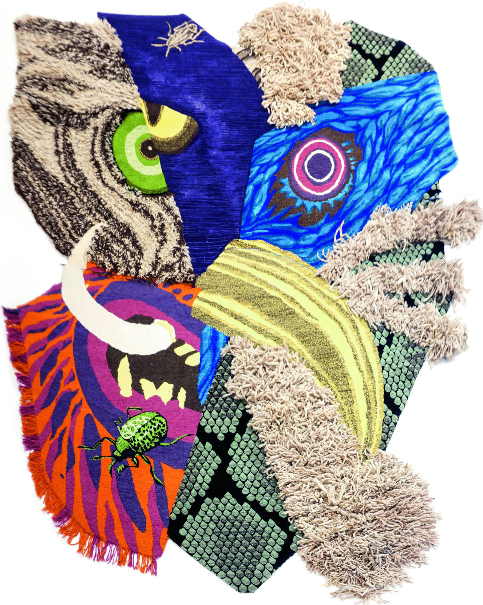 Un-Official Finalist, Best Studio Artist: 'Animal Mask' by Christoph Hefti Rugs | Image courtesy of Christoph Hefti Rugs via Domotex.