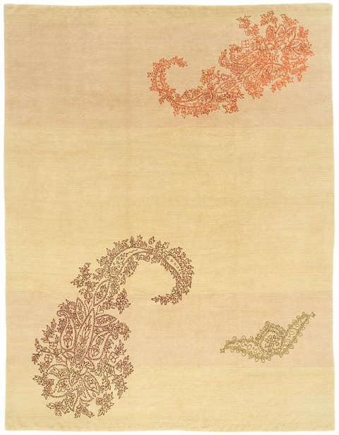 'Paisley' in colour 'Citrus' by Warp and Weft   Image courtesy of Warp and Weft.
