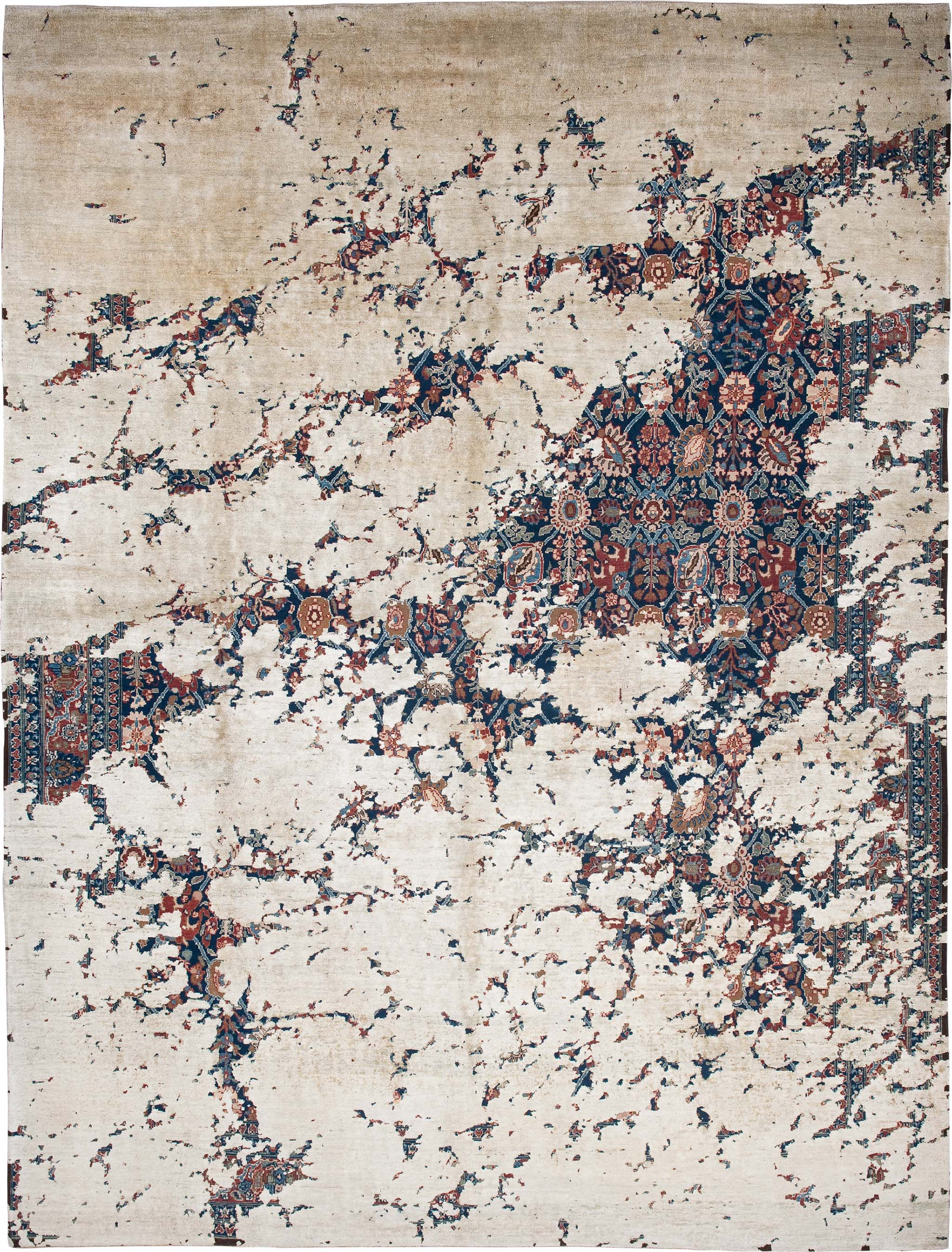 'Tabriz Aerial' from Jan Kath's 'Erased Heritage' collection of carpets. | Image courtesy of Jan Kath.