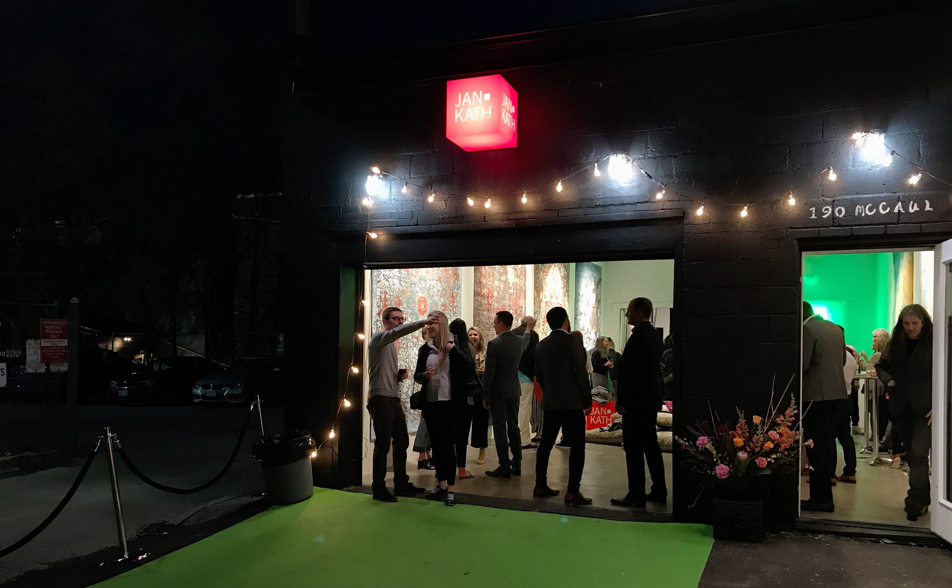 The crowd mingled into the night of Thursday, 10 May 2018 as Jan Kath opened it's latest showroom, it's tenth (Is it?), in Toronto, Ontario, Canada. | Image by The Ruggist.
