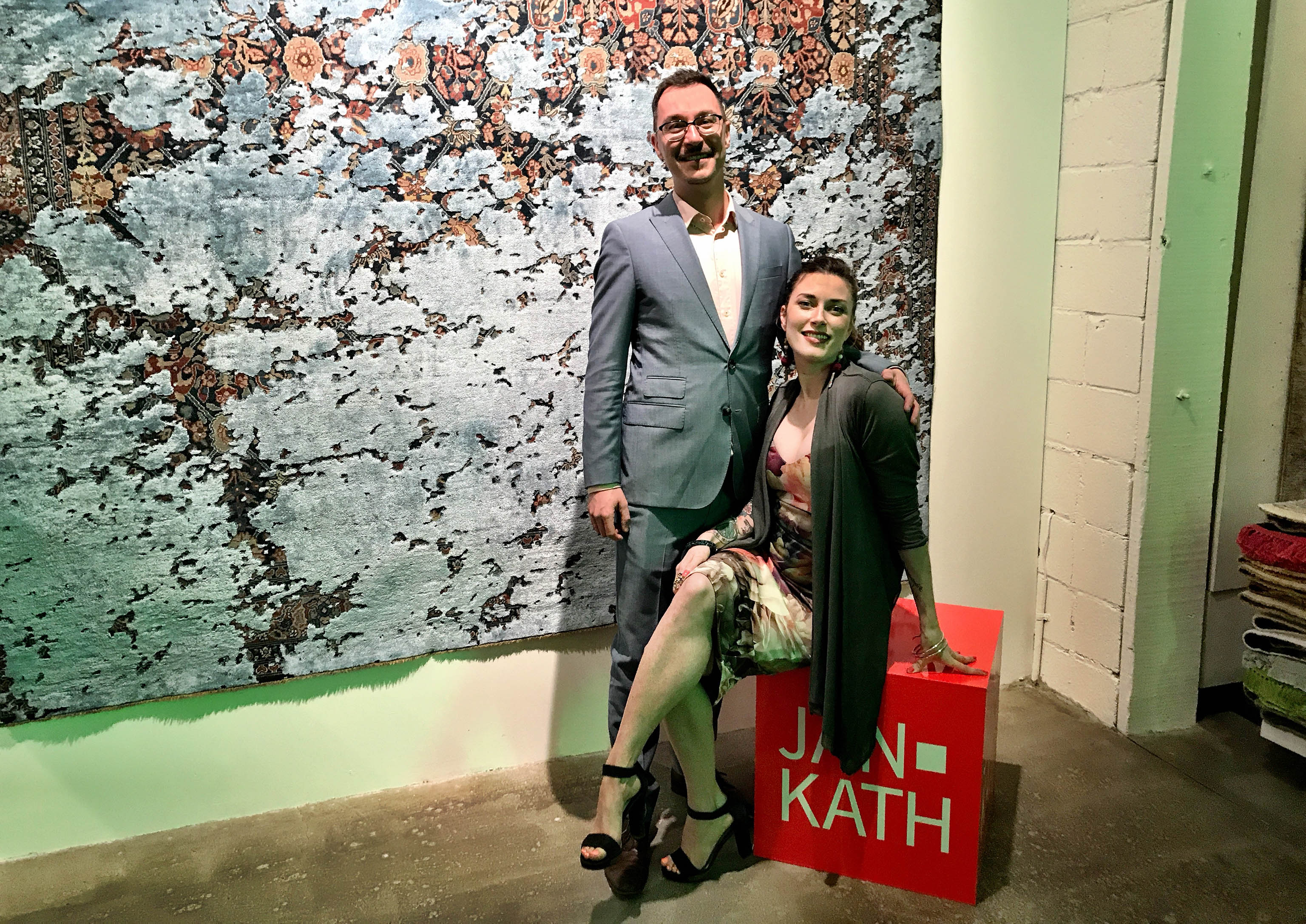 Yvan Semenowycz and Robyn Waffle are a dynamic and intoxicating couple who run Finlay and Kath's new Jan Kath Toronto showroom. | Image by The Ruggist.