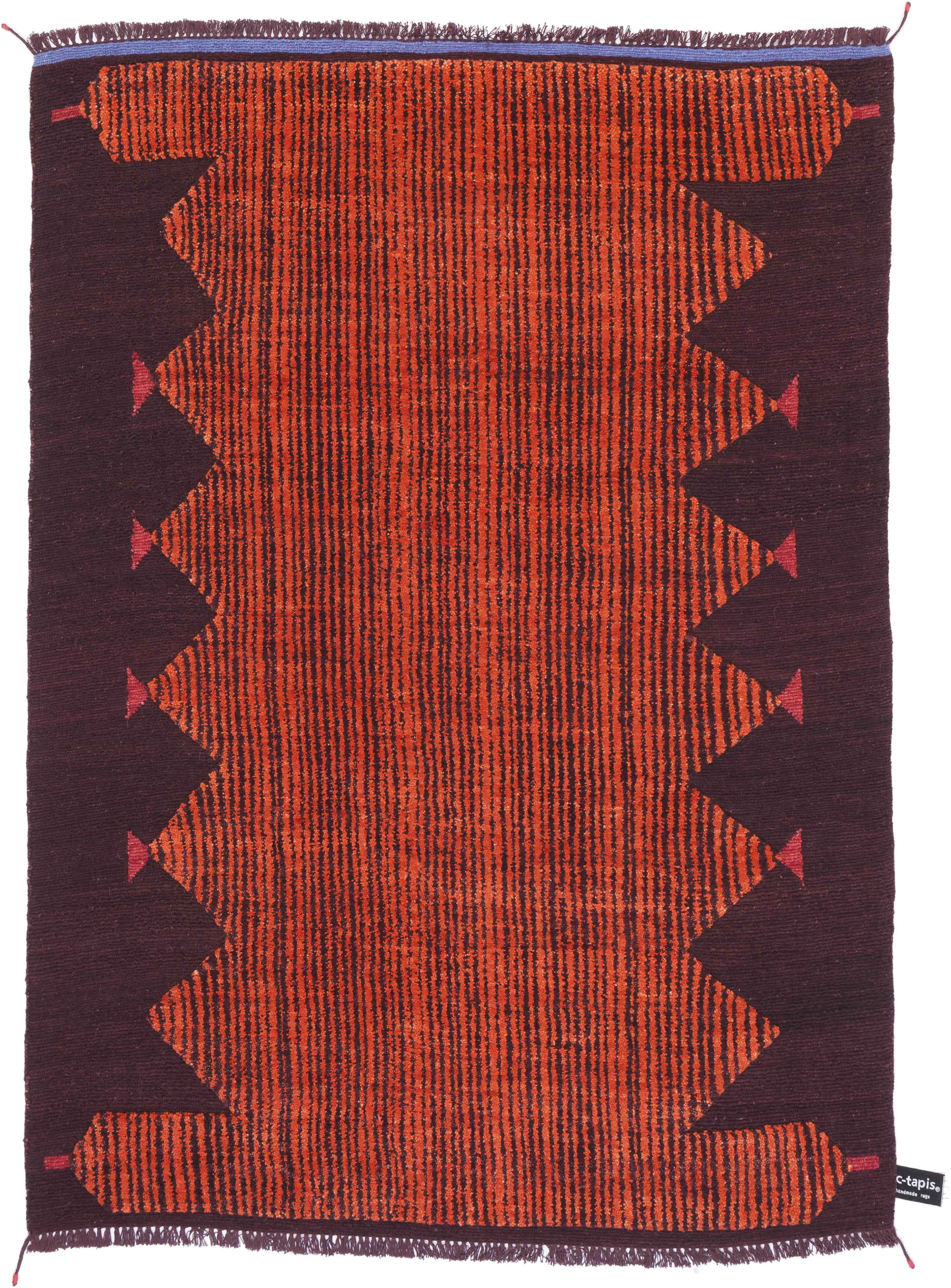 'Primitive Weave Rust 4' by Chiara Andreatti for cc-tapis. | Image courtesy of cc-tapis.