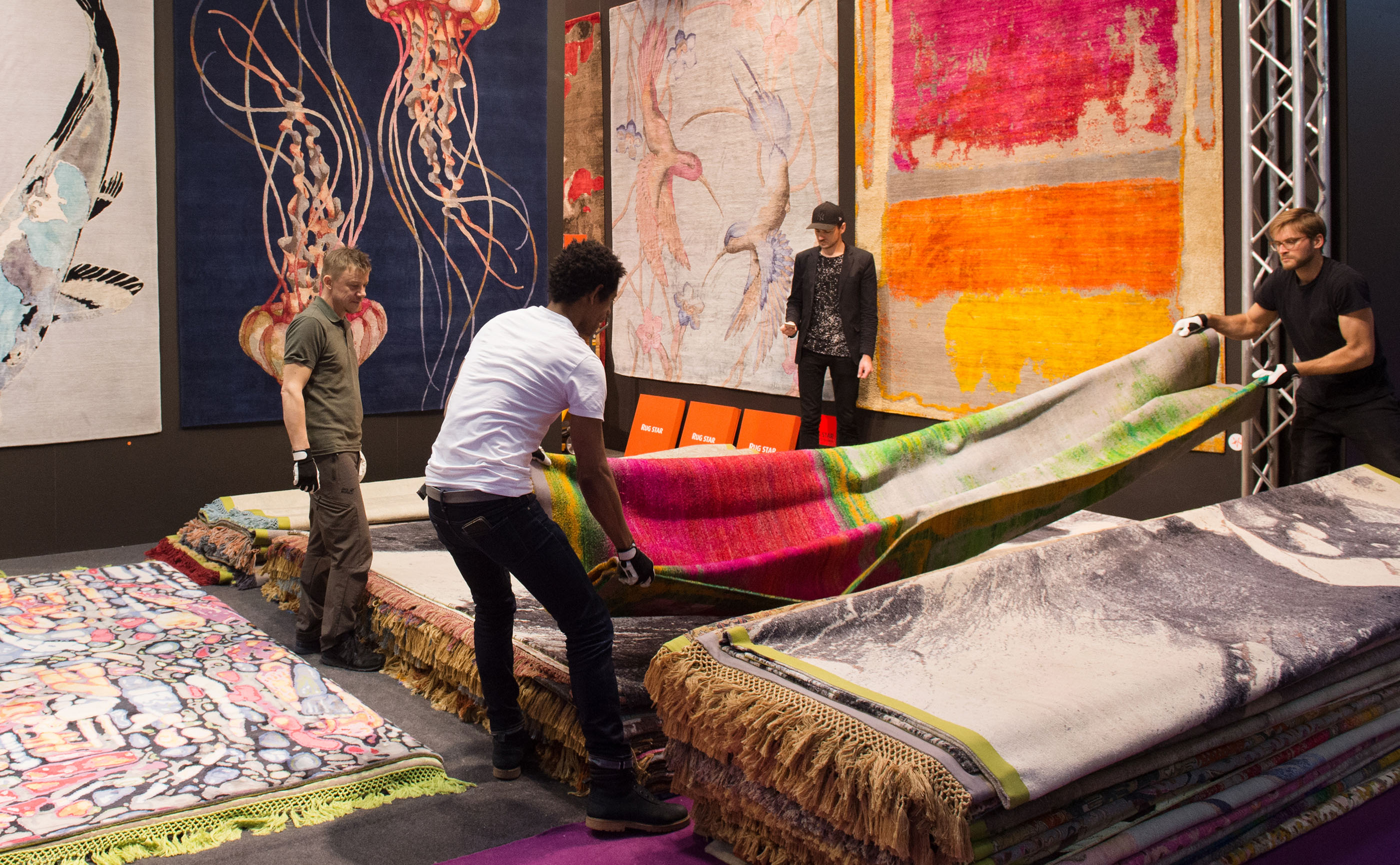 The Domotex stand of renowned brand Rug Star as it appeared during the 2018 fair. | Image courtesy of Domotex.