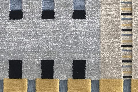 'Point Carré' from the 'Infinity Collection' by Sarawagi Rugs. Designed by Else Bozec, handmade in Kathmandu, Nepal. | Photograph by The Ruggist.